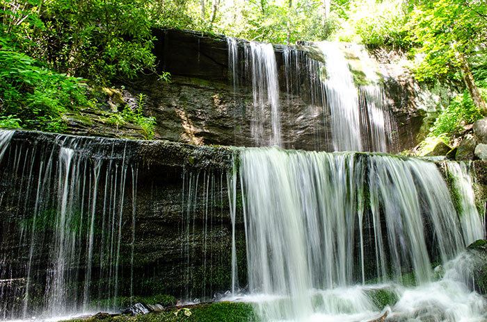 Grassy Creek Falls Mitchell County McDowell County NC