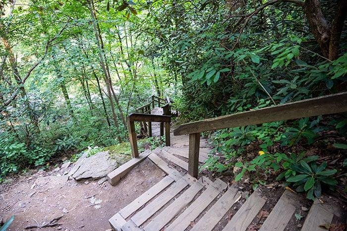 High Shoals Falls trail stairs