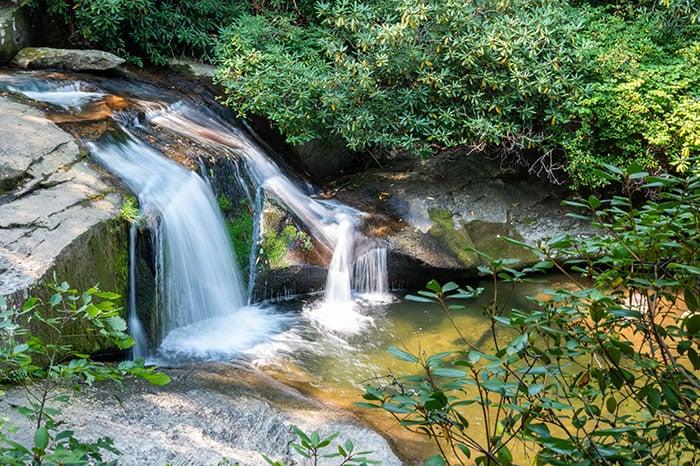 High Shoals Falls waterfalls along the trail