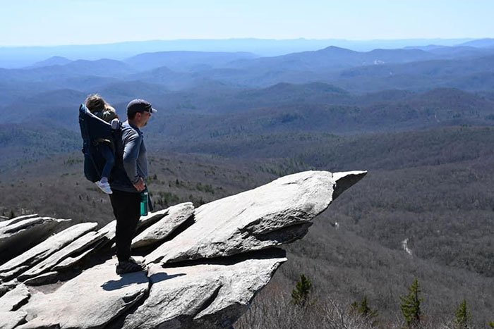 Hikes near Asheville NC Rough Ridge Trail Blue Ridge Parkway
