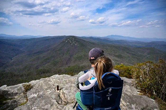 Hikes near Asheville NC Table Rock Mountain