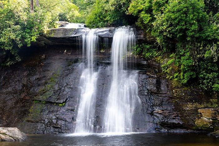 Hikes near Asheville Silver Run Falls