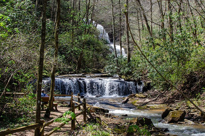 Pearsons Falls in Polk County Western North Carolina