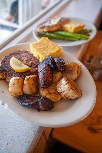 Restaurants on Topsail Sears Landing dinner