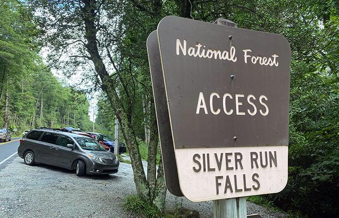 Silver Run Falls Trailhead Parking