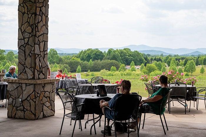 Small Towns in North Carolina Mount Airy Round Peak Vineyards