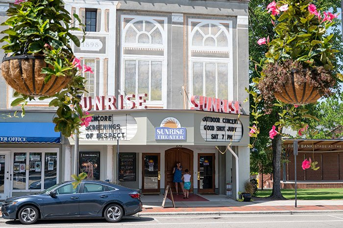 Small Towns in North Carolina Southern Pines Sunrise Theater