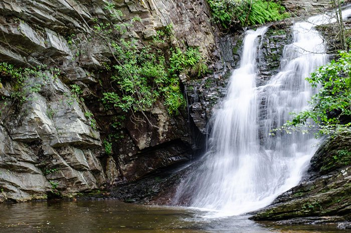Things to Do in North Carolina Lower Cascades Falls Hanging Rock State Park