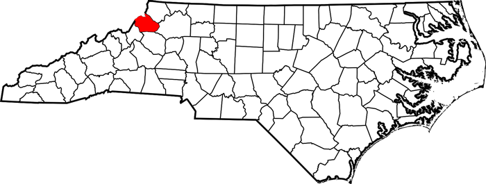 Watauga County Map Created by Wikimedia