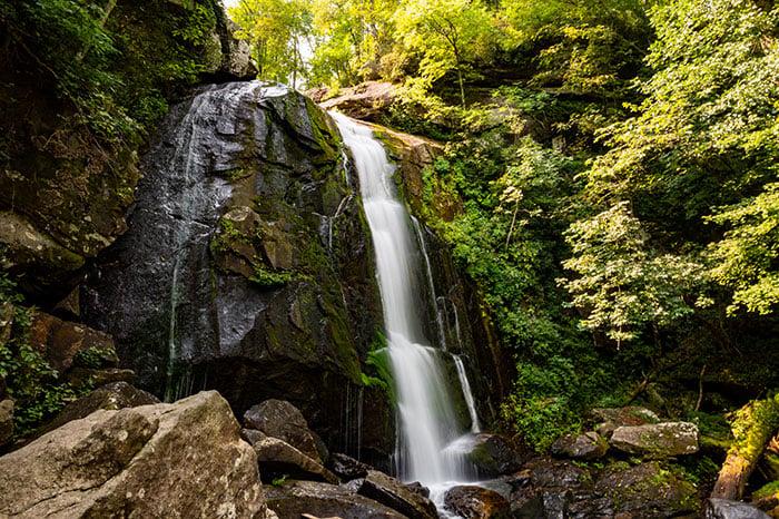 Waterfalls near Asheville NC High Shoals Falls South Mountains State Park