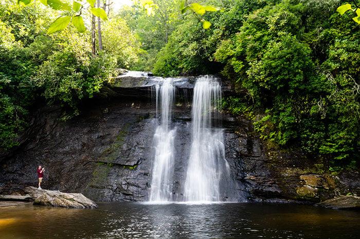 Waterfalls near Asheville NC Silver Run Falls Cashiers Jackson County